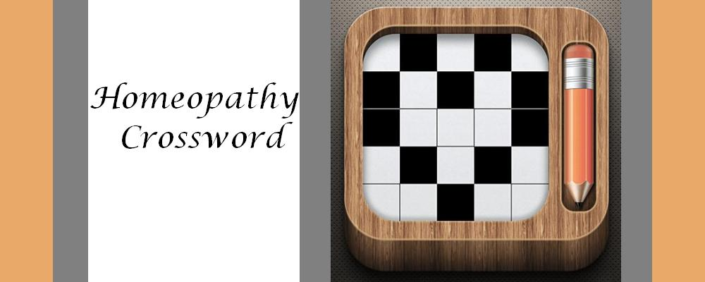 Homeopathy Crossword March 2018